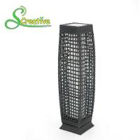 Quality Pathway Decorative Rattan Solar Garden Lights LED Solar Panel Outside Waterproof for sale