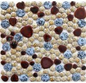 China Irregular Pebble Ceramic Mosaic Tiles for Swimming Pool A52001 on sale