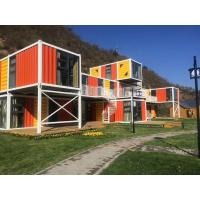 Quality Orange Prefabricated Shipping Container Homes For Flatpack Office Living Room Residential for sale