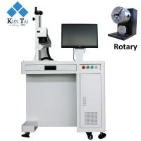 Quality high speed Rotary attchment 30w laser engraving machine for metal for sale