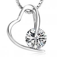 Quality Heart Necklaces pendants with white gold plated  TJ0007 for sale