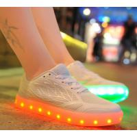 China The New Sneakers For  Female Leds Shoes Candy Color Usb Charging Light Shoes Breathable on sale