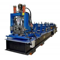Quality Full Automatic Z Purlin Roll Forming Machine With Punching PLC Control System for sale