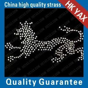 Quality jx0826 hot fix dog rhinestone motif;hot fix rhinestone dog motif;rhinestone dog motif hot fix for sale