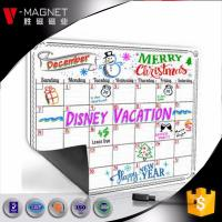 Quality wholesale magnetic calendar for refrigerator on Amazon magnetic board for monthly weekly planner dry earse board for sale