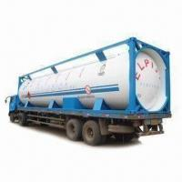 China Propane Tank Container with 1.8MPa Design Pressure, Available in 20, 30 or 40ft Sizes on sale