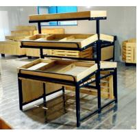 Quality 3 Tiers Collapsible Metal Wooden Display Rack For Retail Shop ISO9001 for sale