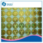 Quality Laser Anti-counterfeit Sticker , 3D Custom Hologram Stickers , Gold Hologram Sticker for sale