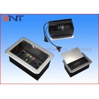 Quality Office Slip Up Cover Table Cable Cubby With HDMI , USB , VGA Ports for sale