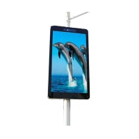 Quality Outdoor lamp-post advertising equipment digital signage customized panel size LED display with wifi for sale