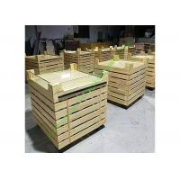 Quality Durable Hypermarket Wooden Fruit Stand With Acrylic Guardrail On Top for sale