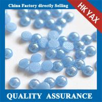 Quality High quality Blue Flatback half pearl beads,half beads pearl,half pearl beads wholesale for sale