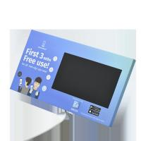Quality Custom print cardboard LCD video display with back stands for video point of sales marketing for sale