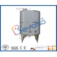 China Single Layer Stainless Steel Milk Storage Tank For Juice Storage Tank SGS / CE / ISO9001 on sale