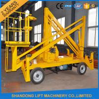 Quality 13m CE Crank Arm Trailer Mounted Boom Hirefor Aerial Work Platform 200kg Loading Capacity for sale