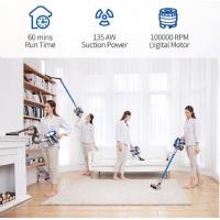 China JV83 Cordless Vacuum Cleaner ,60 Min run time crevice tool, vacuum cleaner	 for Home Cleaning Dust Collect on sale