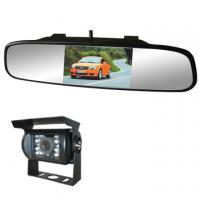 "Quality supper slim car rearview mirror 4.3"" digital TFT panel clip mount bracket, Rear view camera,12-24V for sale"