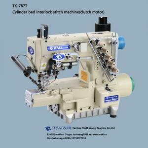 China TK-787T cylinder bed interlock stitch machine(clutch motor) on sale