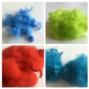 Dope Dyed Staple Recycled Pet Fiber 2.5D - 15D Staple Fiber For Non Woven