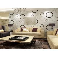 Quality Geometric Non - woven Modern Removable Wallpaper with Black and White Circles for sale