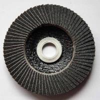 China Silicon Carbide Abrasive Flap Discs Conical For Angle Grinders Fiberglass Base on sale