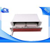 Quality PP - FC 48 Port Optical Fiber Patch Panel Fixed & Sliding Type For FTTH for sale