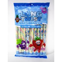 Quality Fruit Flavor Long Twisted Marshmallow Candy Bar Extra Long And Soft for sale