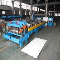 Quality Colorful Metal Corrugated Board Roll Forming Machine Use Japanese Panasonic PLC Control and Hydraulic Cutting for sale