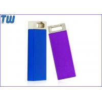 Quality Metal Slim Cuboid 16GB USB Flash Drive Electroplating Color Key Ring Attached for sale