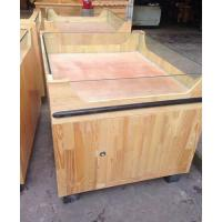 Quality Customized Supermarket Stand Wood Storage Display Shelving Units / Wood Shelving Units for sale