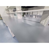 China Grey color epoxy resin worktops resist corrosion for laboratory furniture on sale