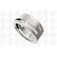 Quality Engravable Stainless Steel Rings For Men , Full Shiny Polished Wedding Ring for sale