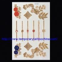 Quality Flash temporary tattoo gold silver tattoos for sale