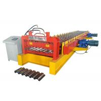 Quality Bearing Plate Metal Deck Forming Machine , High Efficient Floor Tiles Making Machine for sale