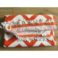 Quality 100% Cotton Extra Large Custom Printed Rectangle Beach Towel with Tassels wholesale turkish towel for sale