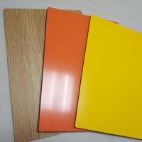 Quality 2mm 3mm 4mm 5mm Thick Solid Aluminum Composite Panel , Composite Metal Panel Gloss White for sale