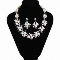 China Bridal Pearl Jewelry Set, Necklace and Earrings Included on sale