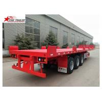 Quality Custom Air Suspension 18 Wheeler Flatbed Trailer For Heavy Duty Cargo for sale