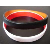 Quality 2 layers silicone bracelet, Top quality two layers silicone bracelet,wristbands, Custom made colors for sale