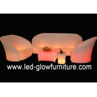 Quality Modern L shaped LED Bar Chair color changing , Comfortable sectional night club sofa for sale