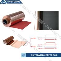 Quality Red / Black Fatigue Resistance Treated Ra Copper Foil 12um 18um 25um for sale