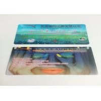 Quality 0.6MM PET Flip Effect 3D Lenticular Business Cards UV CMYK Printing for sale