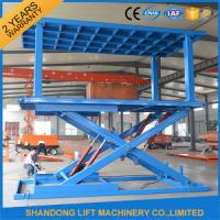 Quality Indoor / Outdoor Double Car Parking Hydraulic Platform Lift 1 ton - 20 ton Load Capacity Custom for sale