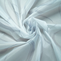 Quality 65-90gsm 220cm White Striped Jacquard Fabric Polyester Mattress Protector for sale