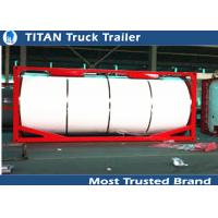 Quality Semi tanker trailers Tank container for bitumen / crude oil / palm oil transportation for sale