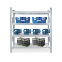 Buy cheap 200kg per layer grey white color steel light duty storage rack with 4 layers from wholesalers