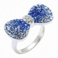Quality Bow Tie Crystal Ring for sale