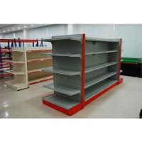 Buy cheap Single Sided Metal Store Shelving , Supermarket Display Fixtures With Fence from wholesalers