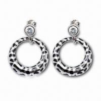 Quality Drop Earrings, Customized Designs are Accepted, Made of Sterling Silver for sale