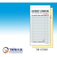 Quality 2018 NRA  GUEST CHECK 2parts carbonless paper CT-G7000 for restaurant usage easy tearing for sale
